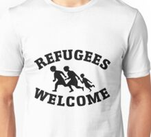 Welcome Refugees Love Peace Unisex T-Shirt
