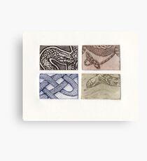Reptile collection 1 Canvas Print