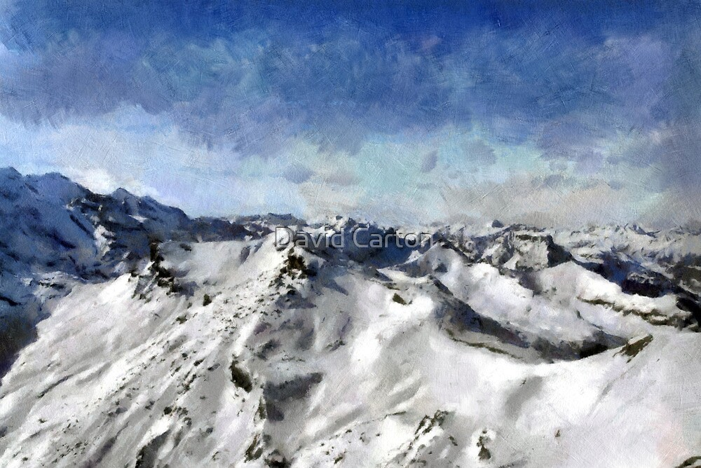 View from the Schilthorn by David Carton