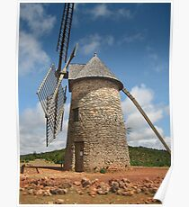 Lovely windmill in the Aveyron Poster