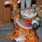G. DeBrekht Santa and his Giraffe by Marjorie Wallace