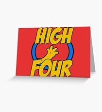 High Four Greeting Card