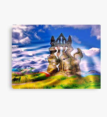 Abstract Whitby Abbey Metal Print