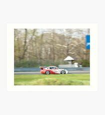 Porsche 996 Cup Car at Lime Rock Art Print