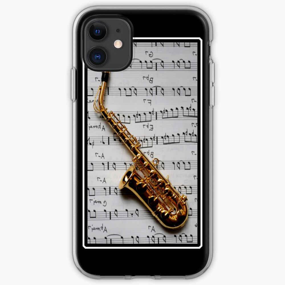 Just One Note Saxophone iPhone Case iPhone Soft Case