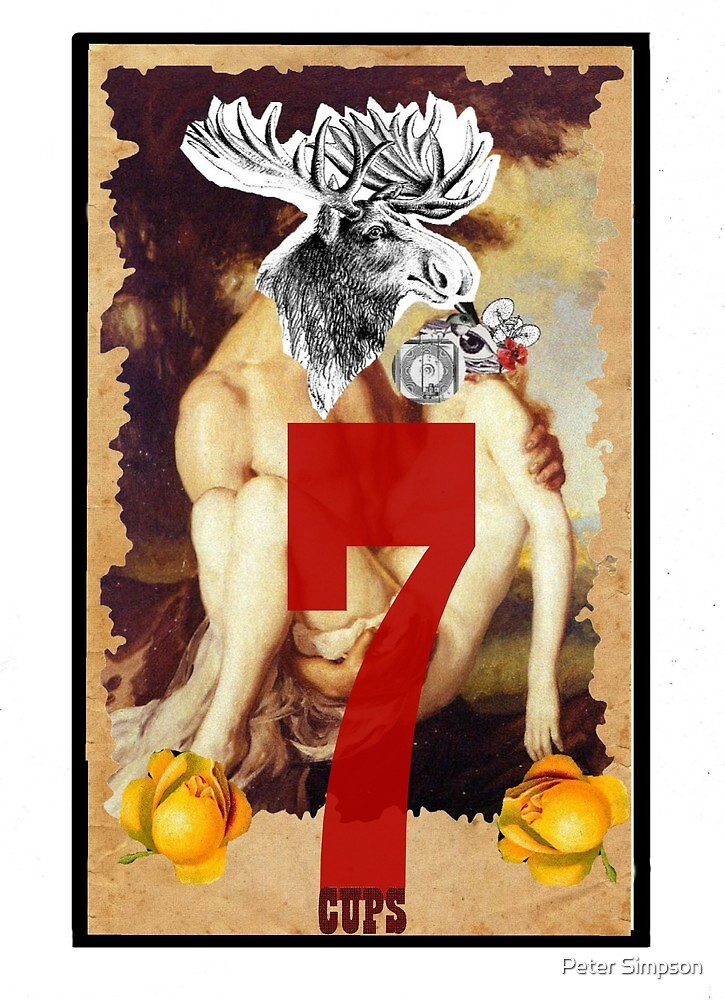 Dada Tarot- 7 of Cups by Peter Simpson