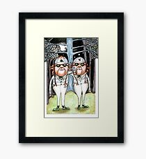 The Tweedles collaboration Framed Print