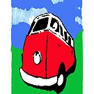 Groovy Red Van by davepockett