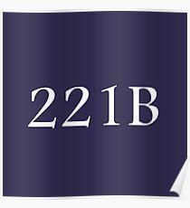 221B - Sherlock Holmes Poster