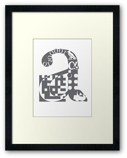 a alphabet symbol braille code design by Veera Pfaffli