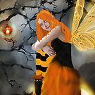 Halloween Fae iPhone Case by Rowan  Lewgalon