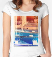 Small Boat Space Women's Fitted Scoop T-Shirt