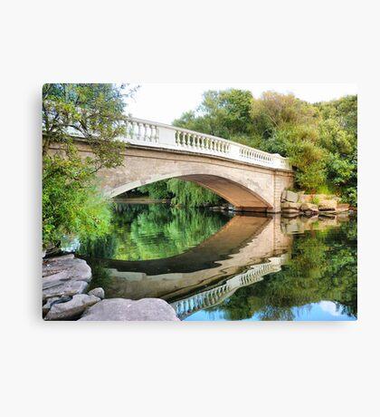 Reflections Through the Bridge  Canvas Print