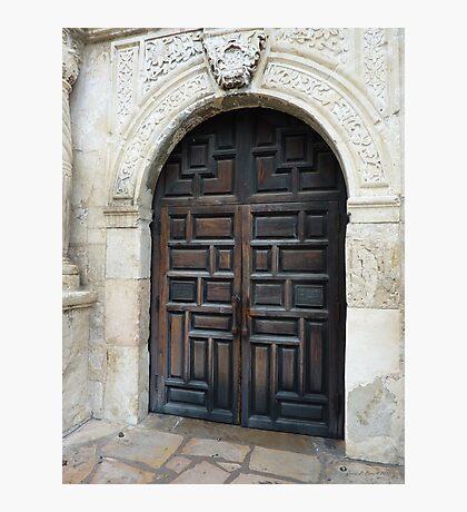 Door of the Alamo Photographic Print