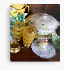 Green and Gold Metal Print
