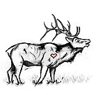 Singing Elk (from the heart) by MsMiscellaneous
