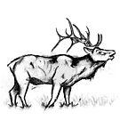 Singing Elk- minimalistic by MsMiscellaneous