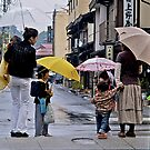 Walking in the Rain, Takayama, Japan. by johnrf