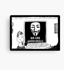 Anonymous Business Canvas Print