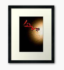 Love Ribbon Framed Print