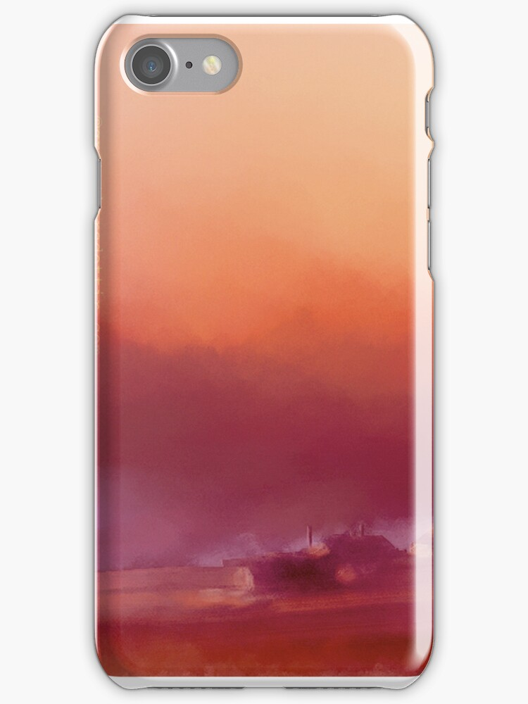Winter-sun, in Iceland, iPhone case by Gréta Thórsdóttir