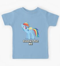 "Rainbow Dash - ""Chicks"" Kids Tee"