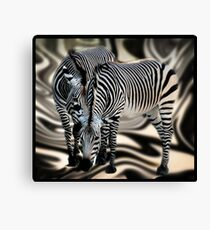 What are they saying to each other? Canvas Print