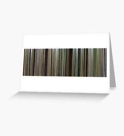 Moviebarcode: Blood Diamond (2006) Greeting Card