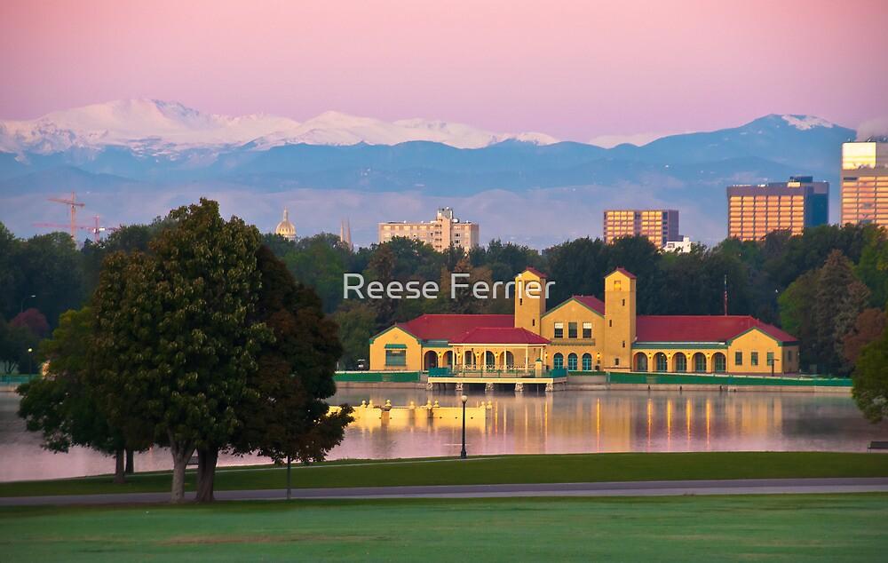 Ferril Lake at Sunrise by Reese Ferrier