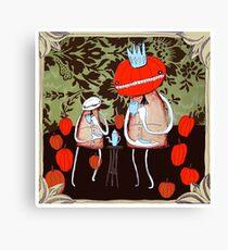 tea with pumpkin king Canvas Print