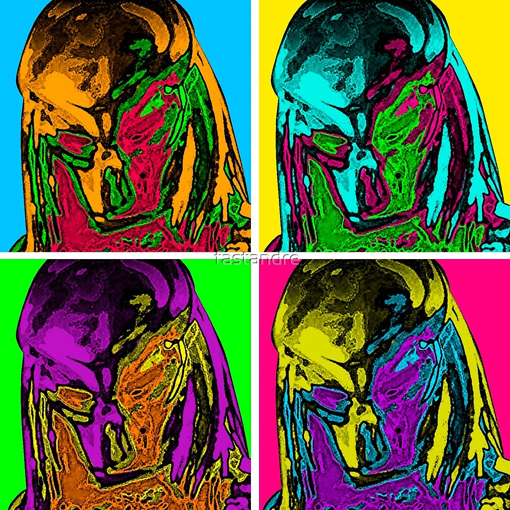 Predator Movie Pop Art Inspired Andy Warhol Depiction by fastandre