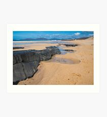 Landscape, Traigh Mhor beach, Finger of rock Art Print