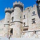 Knights castle at Rhodos Island, Greece by Ivo Velinov