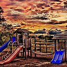 Playground At Dusk by Scott Lebredo