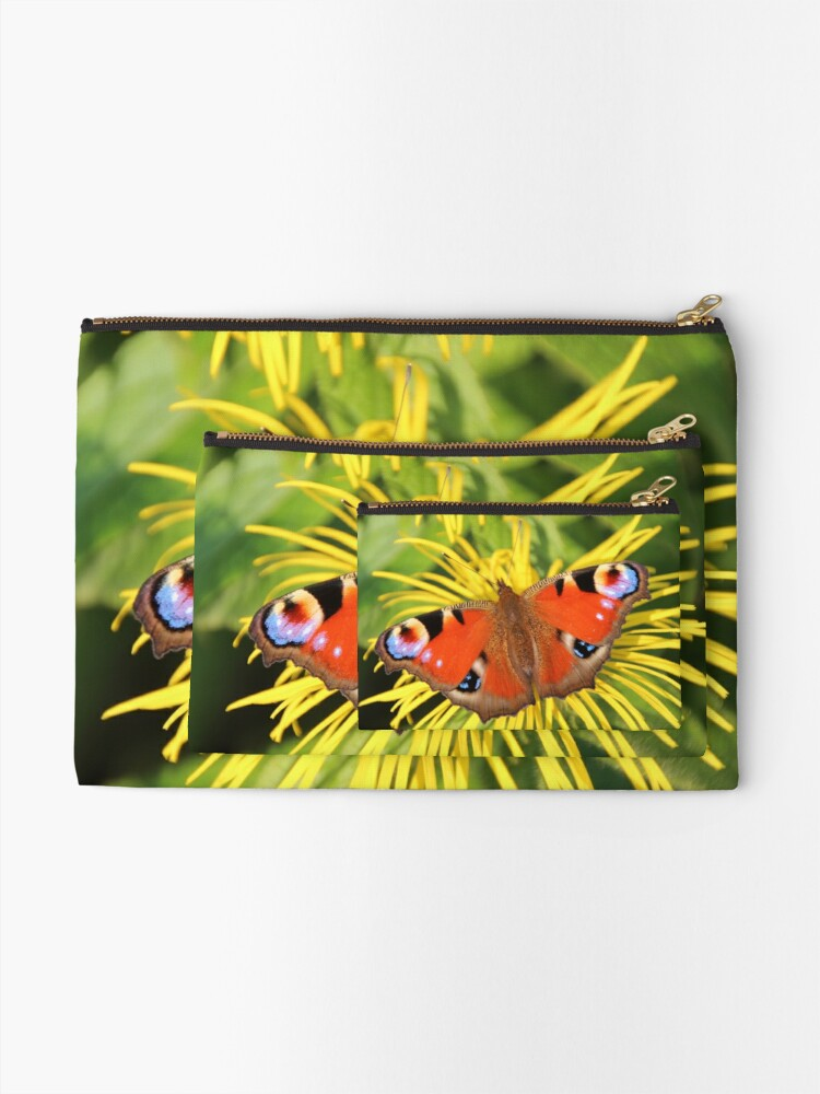 Alternate view of Peacock butterfly Zipper Pouch