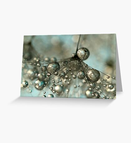 Dandy in Silver & Blue Greeting Card