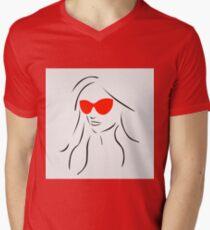 Stylish girl wearing shades  T-Shirt