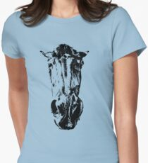 Horse head Womens Fitted T-Shirt