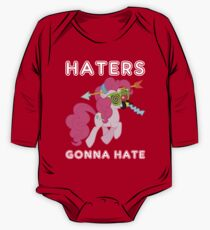 Pinkie Pie haters gonna hate with Text One Piece - Long Sleeve
