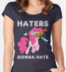 Pinkie Pie haters gonna hate with Text Women's Fitted Scoop T-Shirt