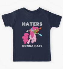 Pinkie Pie haters gonna hate with Text Kids Tee