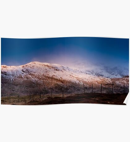 Meall Nan Tarmachan lit by the moon Poster