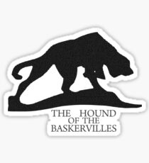 Hound of the Baskervilles Typography Sticker