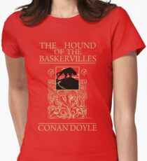 Hound of the Baskervilles Book Cover Women's Fitted T-Shirt