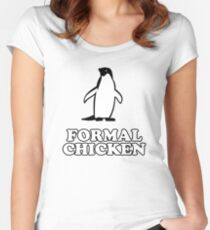 Penguin (Formal Chicken) Women's Fitted Scoop T-Shirt