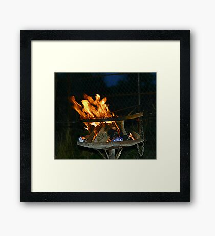 A classic South African braai!! Framed Print