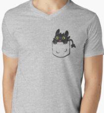Pocket Toothless Men's V-Neck T-Shirt