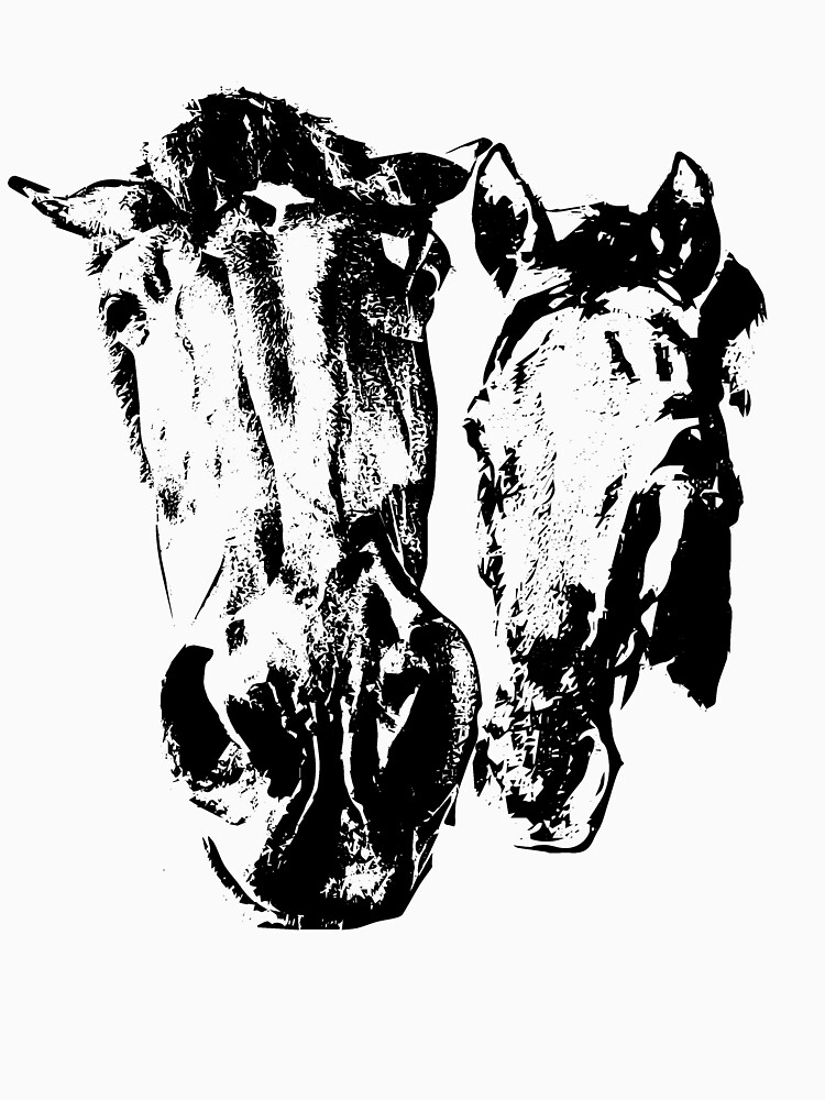 Two horses by Hujer