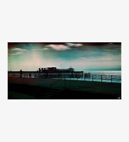 Dawn on the Seafront At Hastings Photographic Print
