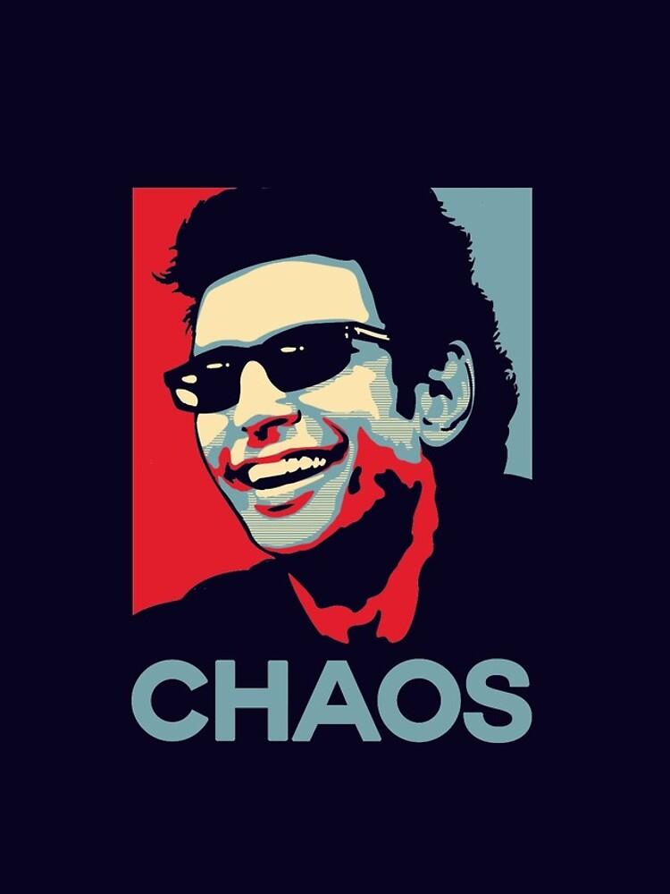 Camiseta de Ian Malcolm 'Chaos' de Tabner